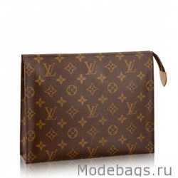 Toiletry Pouch 26 toile Monogram M47542